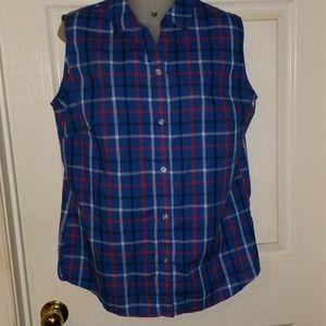 Alia short sleeve flannel top